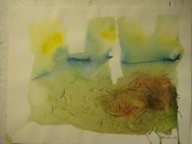 2011,Dorf 2,,40 x 50 cm
