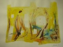2011,Dorf,40 x 50 cm