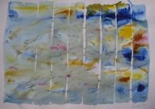 2015, Wasserspiel 8, Aquarell, 42 x 58 cm