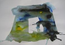 2015, spazio libero IV, aquarell, 42 x 58 cm