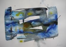 2015, spazio libero V, Aquarell, 42 x 58 cm