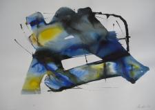 2015, spazio libero VI, Aquarell, 42 x 58 cm