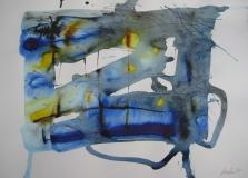 2015, spazio libero VII, Aquarell, 42 x 58 cm