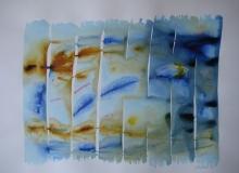 2015, Windharfe I, Aquarell, 42 x 58 cm