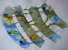 2015, Windharfe III, Aquarell, 42 x 58 cm