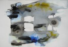 2015, spazio libero I, Aquarell, 42 x 58 cm