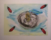 2006,kleiner Heiliger,40x 50 cm