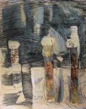2009,Wege,Collage ,LW,100 x 80 cm