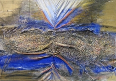 2000, Ufer, Öl, Sand, Leder, 80x110cm