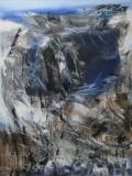 2001, Aufbruch, Öl, Sand auf LW, 120x100cm