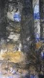 2005, Winterbild III, Zeichnung, Sand auf Holz, 200x100 cm