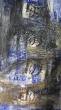 2005, Winterbild II, Zeichnung, Sand auf Holz, 200x100cm