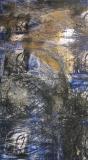 2005, Winterbild I, Zeichnung, Sand, Holz, 200x100cm