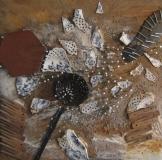 2006, Küche, Materialbild, 60x60cm