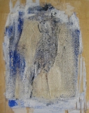 2007, Block, Öl, Sand, Nägel, 30x25cm
