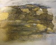 2009, Sylt, Öl, Sand, Faserstift auf LW, 120x150cm