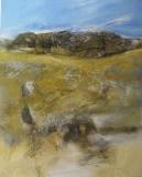 2010, Felsen, Öl, Sand auf LW, 150x120cm