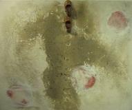 2010, Wege, Spuren, Schuhe, Sand, LW, 100x120cm