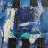 2011, gebunden, Materialbild auf LW, 50x50cm
