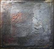 1989, Corpus, Öl, stoff auf Holz, 180x190cm