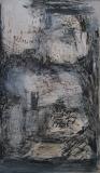 1994, Räume und Wege, Öl auf Holz,100x60cm