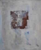 1994, silenzioso, Öl, Blattsilber auf LW, 55x45cm
