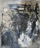 1995, Balken, Öl, Sand auf LW, 120x100cm