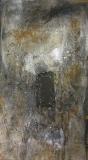 1995, Erinnerung, Öl, Sand Holz, 200x100cm
