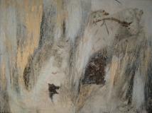 1997, frammento, Öl, Metall auf Holz, 60x80cm