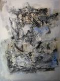 1997, passaggio, Öl, Sand auf LW, 100x120cm