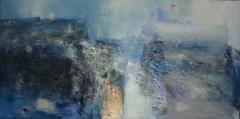 2004, Brachland, Öl, Sand auf LW, 100x200cm