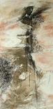 2007, Kaskade, Öl, Sand auf LW, 200x100cm
