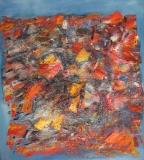 2010, Klänge, Öl, Sand, LW, 140x120cm