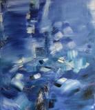 2011, blue-blue, Öl, LW, 150x120cm