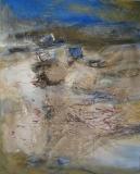 2012, im Watt, Öl, Sand LW, 150x120cm