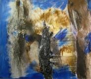2012, terra magica, Öl, Lava-Sand, LW, 130x150cm