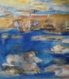 2014, Küste, Öl, Sand, LW, 150x130cm