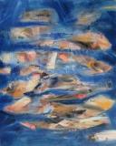 2014, Wassertanz, Öl, Sand LW, 150x120cm