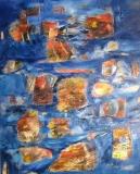 2014, dancing islands, Öl, Sand, LW, 150x120cm
