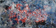 2018, passaggio (blau-grau), Öl auf LW, 100x200cm