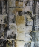 1998, Metamorphose, Collage auf LW, 150x120cm