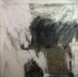 1998, il fazzoletto, Collage auf LW, 200x200cm