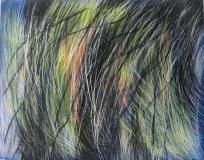 2010, bewegt, Öl, Glas, 50x40cm