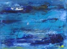 2010, blau V, 30x40cm