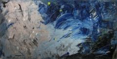 2010, grau, Öl hinter Glas auf Holz, 100x200cm