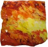 2014, große Faltung, Öl hinter Acrylglas, Relief, 100x100x20cm