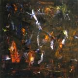 2016, wild mood, Öl, Glas, 100x100cm