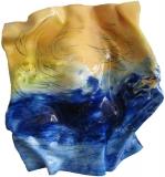 2017, dancing water, Öl, Glas, 45x50x10cm