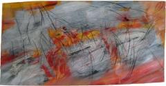 2017, o.T; Öl hinter Glas, 100x200cm
