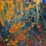 The flow, Öl, Glas, 50x50cm